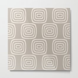 Mid Century Modern Concentric Pattern 252 Metal Print