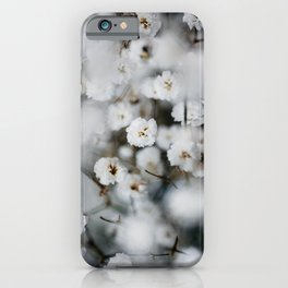 Gypsophila White Small Floral Poster - Botanic Nature Photography - Natural iPhone Case