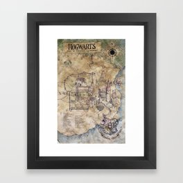 Hogwarts Map Framed Art Print