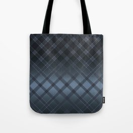 Dark gray pattern in the forward cage on satin grey background . Tote Bag