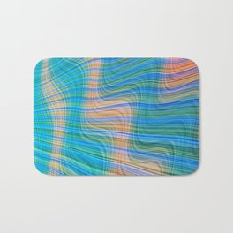 Topsy turvy waves Bath Mat