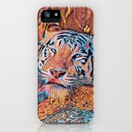 AnimalMix_Tiger_019_by_JAMColors iPhone Case