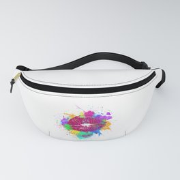 Neon Colorful Kiss 90s Fanny Pack