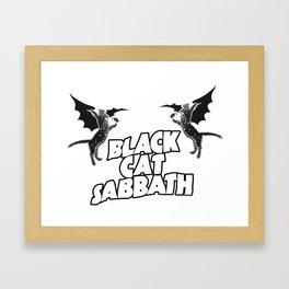 CAT SABBATH Framed Art Print