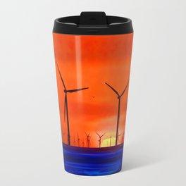 Windmills in the Sea Travel Mug