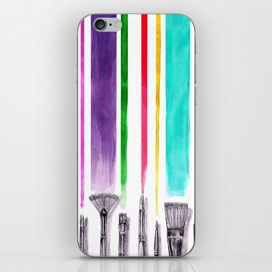 Paint brushes iPhone & iPod Skin