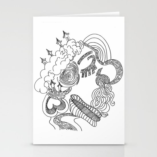 dreams in line Stationery Cards