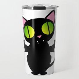 Vampire Cat Travel Mug