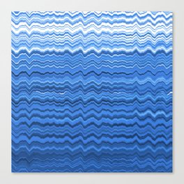 Blue waves pattern Canvas Print