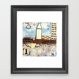 Aunt J in the city Framed Art Print