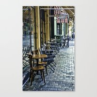 cafe Canvas Prints featuring Cafe by Oasis Agencies