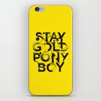stay gold iPhone & iPod Skins featuring Stay Gold by Lucas Young