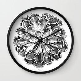 Echeveria engraving Wall Clock