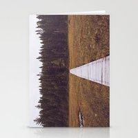 hiking Stationery Cards featuring Fall Hiking by Simon Laroche