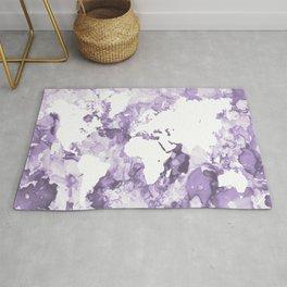 Design 109 Purple World Map Rug