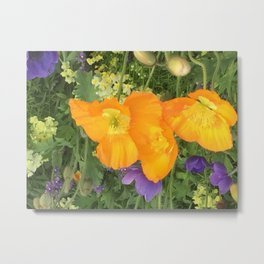 Botanical Florals zencolor3 Metal Print