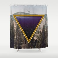 frame Shower Curtains featuring Space Frame by Grafiskanstalt
