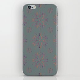 Snowflake Skulls: Gradient+Grey iPhone Skin