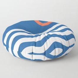 Nautical 03 Seascape Floor Pillow