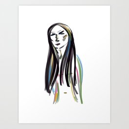 Reflection and introspection Art Print