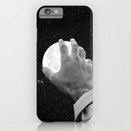 Reach for the Moon-Black and White iPhone Case