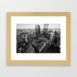 Fort Worth in Black and White Framed Art Print