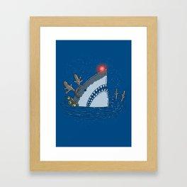 Rudolph Shark Framed Art Print