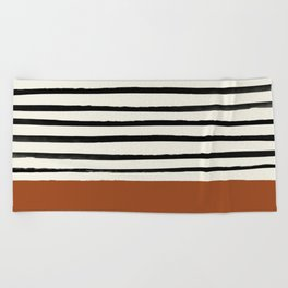 Burnt Orange x Stripes Beach Towel