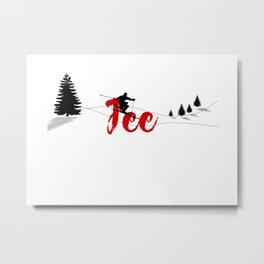 Ski at Fee Metal Print