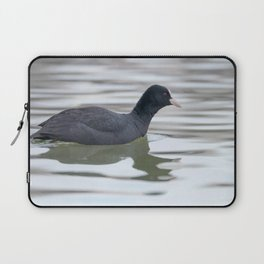 Coot swimming (Fulica atra) Close up Eurasian Coot Laptop Sleeve