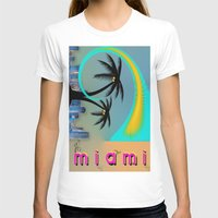 miami T-shirts featuring Miami by Dunksauce Art