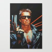 terminator Canvas Prints featuring Terminator by K-mu Toma
