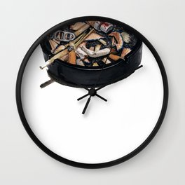 writer's ashtray Wall Clock