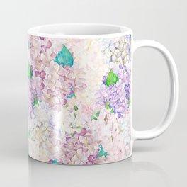 Pastel Purple and blue Lilac & Hydrangea - Flower Design Coffee Mug