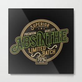 Absinthe - Green Fairy - 06 - dark Metal Print