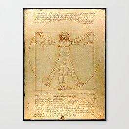 Vitruvian Man - Leonardo da Vinci Canvas Print