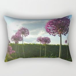 Purple Pansy Rectangular Pillow