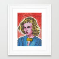 ginger Framed Art Prints featuring Ginger by Anna Gogoleva