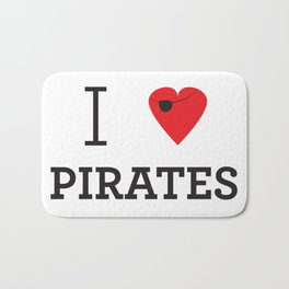 I heart Pirates Bath Mat