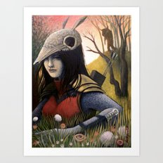 Armadillo Girl Art Print