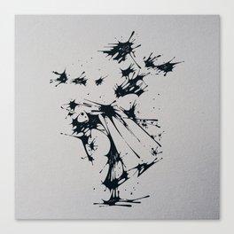 Splaaash Series - Dance Fighter Ink Canvas Print