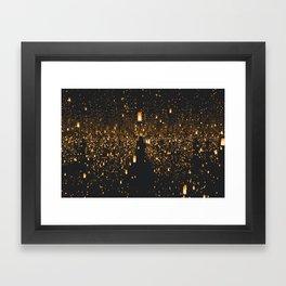 Lighted Lanterns Framed Art Print