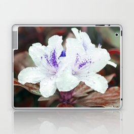 WHITE BLOSSOM - Rhododendron Laptop & iPad Skin