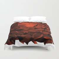 polygon Duvet Covers featuring Polygon 10 by Jambot