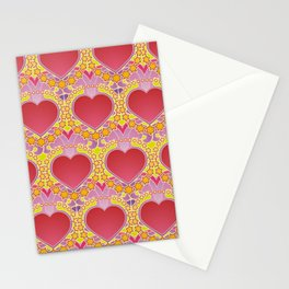 Peace and love pattern Stationery Cards