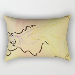 BELLE, The Beauty. Tale As Old As Time. Rectangular Pillow