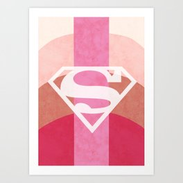 Girly Superman Logo Art Print