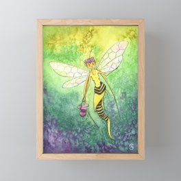 The Bee Faery Framed Mini Art Print