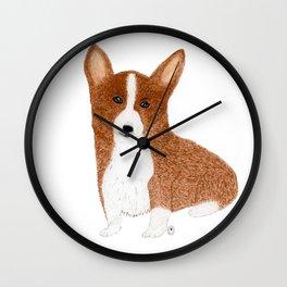 Clyde the Corgi Puppy Wall Clock