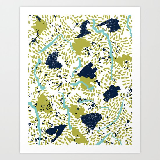 Trenton - modern minimal abstract painterly palette urban brooklyn cali city beach painting dorm  Art Print